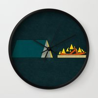 camping Wall Clocks featuring camping by Shawn Tegtmeier