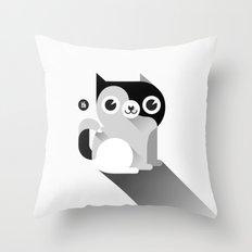 Black & White cat Throw Pillow