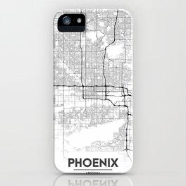 Minimal City Maps - Map Of Phoenix, Arizona, United States iPhone Case