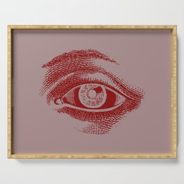 Retro Vintage Color Eye Pattern Serving Tray