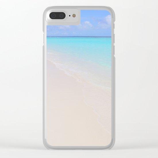 beach (Maldives White Sand Beach) Clear iPhone Case