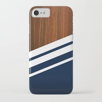 navy iPhone & iPod Cases featuring Wooden Navy by Nicklas Gustafsson