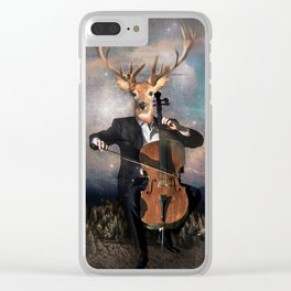 The Musican - Vinolocello Clear iPhone Case