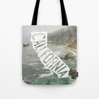 california Tote Bags featuring California by cabin supply co