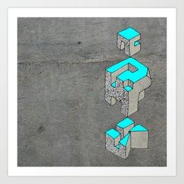 geometric space Art Print