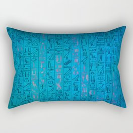 Ancient egyptian blu Rectangular Pillow
