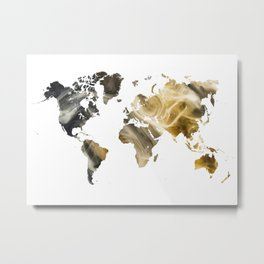 Sandy world map Metal Print