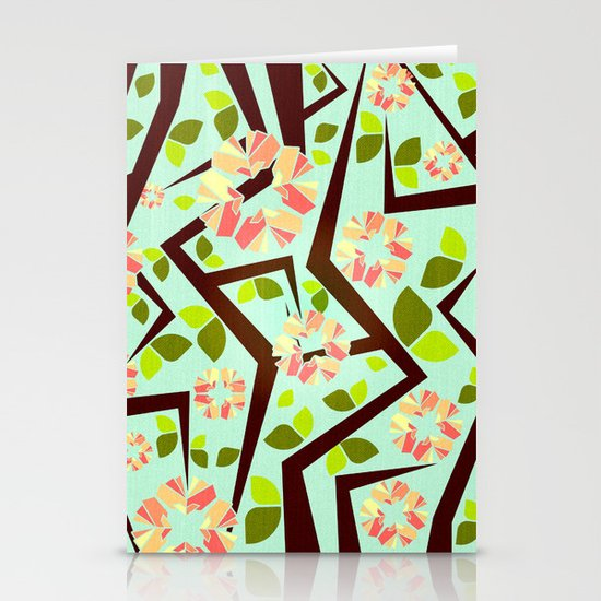 Blooming Trees Pattern III Stationery Cards