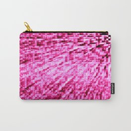 Pink Pixel Wind Carry-All Pouch