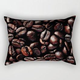 Dark Roasted Coffee Beans Rectangular Pillow