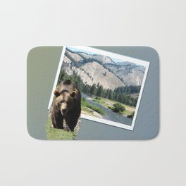 Grizzly Bear in Sawtooth National Forest Bath Mat