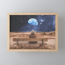PLANET EARTH, THE UNIVERSE AND I Framed Mini Art Print