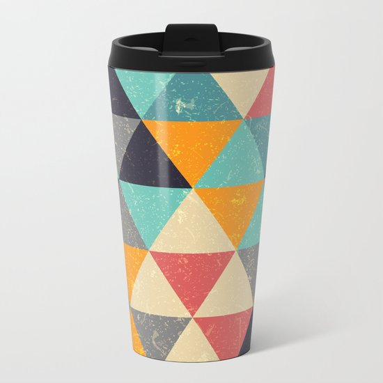 Trianglify Metal Travel Mug