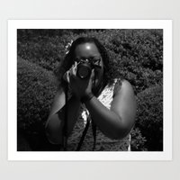 Behind the Lens Art Print