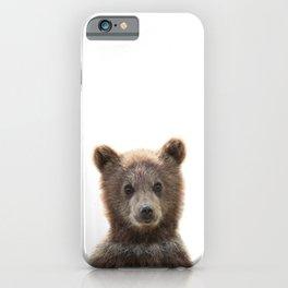 Baby Bear Print by Zouzounio Art iPhone Case