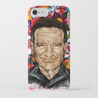 robin williams iPhone & iPod Cases featuring Robin by Carol Wellart