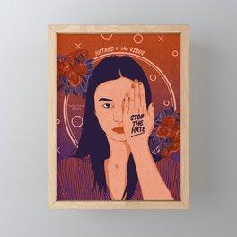 Stop the Hate Framed Mini Art Print