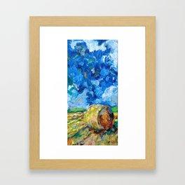 Round Haybale Framed Art Print