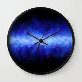 Blue Light Beam Wall Clock