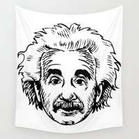 einstein Wall Tapestries featuring EINSTEIN by James Vickery
