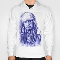 jack sparrow Hoodies featuring Jack Sparrow by Luna Perri