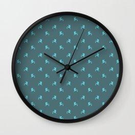 Blue little storks pattern Wall Clock