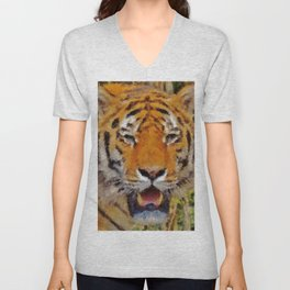 Tiger Eyes Unisex V-Neck