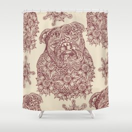 MANDALA OF ENGLISH BULLDOG Shower Curtain