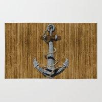 anchor Area & Throw Rugs featuring Anchor by MacDonald Creative Studios