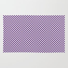 Royal Lilac and White Polka Dots Rug