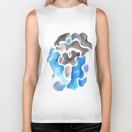 170623 Colour Shapes Watercolour 11| Abstract Shapes Drawing | Abstract Shapes Art |Watercolor Paint Biker Tank