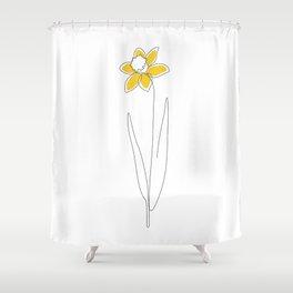 Mustard Daffodil Shower Curtain
