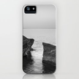 Serenity Sea. BW square. At Sunrise Morning iPhone Case