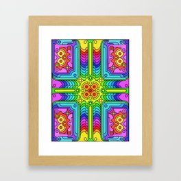 Deconstructed Spinners Framed Art Print
