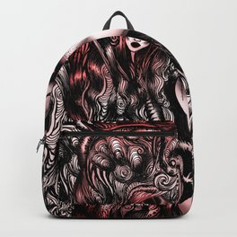 Baroque Head_Red Backpack