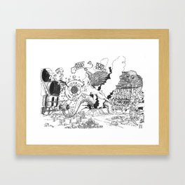 The story so far Framed Art Print