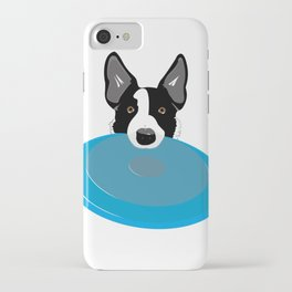 Border Collie - Disc Dog 2 iPhone Case