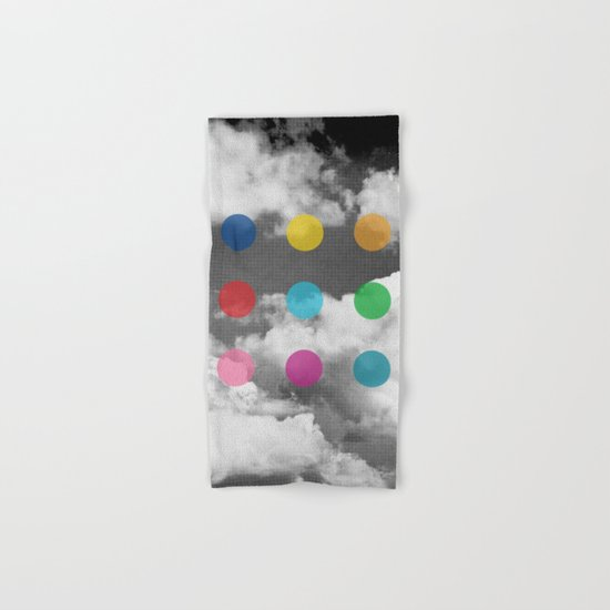 Storm Clouds + Colored Dots Hand & Bath Towel