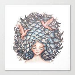 Claudette Head in the Clouds Canvas Print
