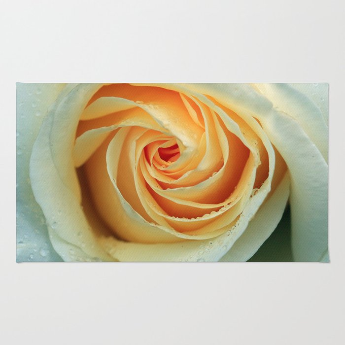 Pale Yellow Rose Rug