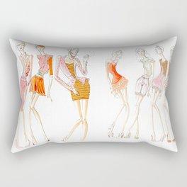 Peachy Keen Line up Rectangular Pillow
