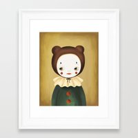 lucy Framed Art Prints featuring Lucy by The Midnight Rabbit