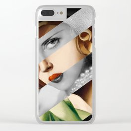 Tamara De Lempicka & Bette Davis Clear iPhone Case