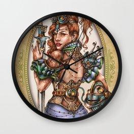 Medieval Nymph Wall Clock