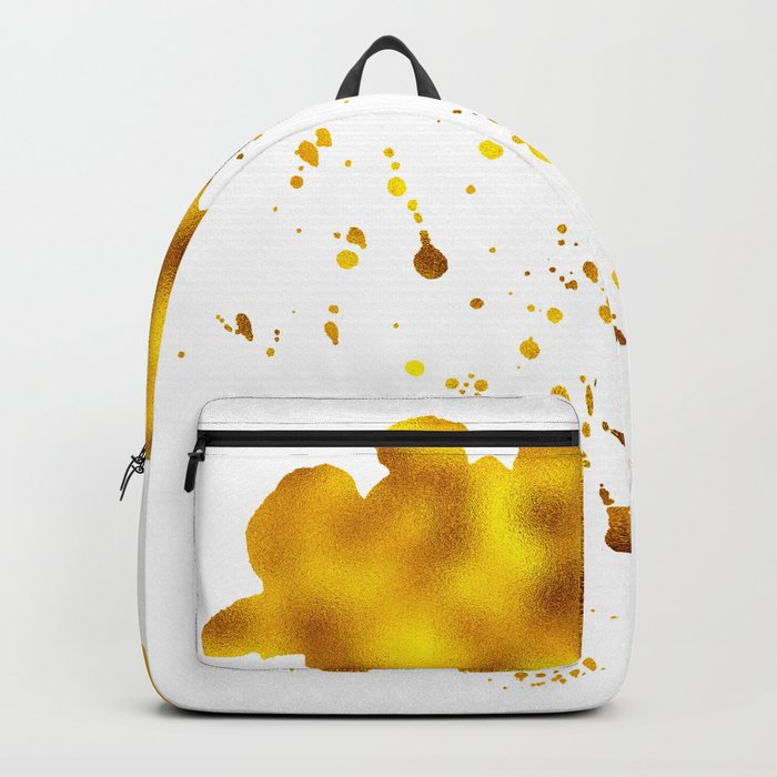 Gold Clouds Poison Rain Backpack