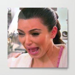 KIM K CRYING Metal Print