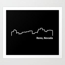 Reno, Nevada Art Print