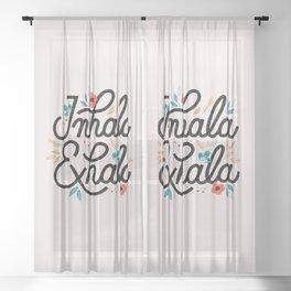 Inhala Exhala Sheer Curtain