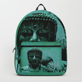 BUDDHA GIRL - SILENCE - quote Backpack