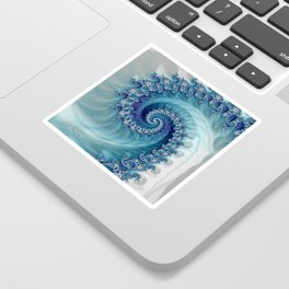 Sound of Seashell - Fractal Art Sticker